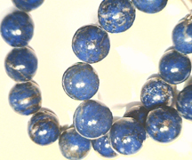 Lapis beads from Afghanistan